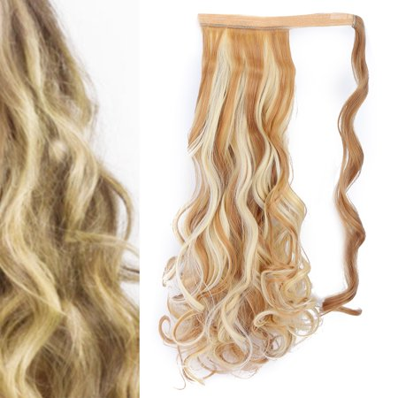 Herwey Long Curly Hair Extension Wig Piece Traceless Invisible Synthetic Ponytail Hair Piece - image 7 of 8