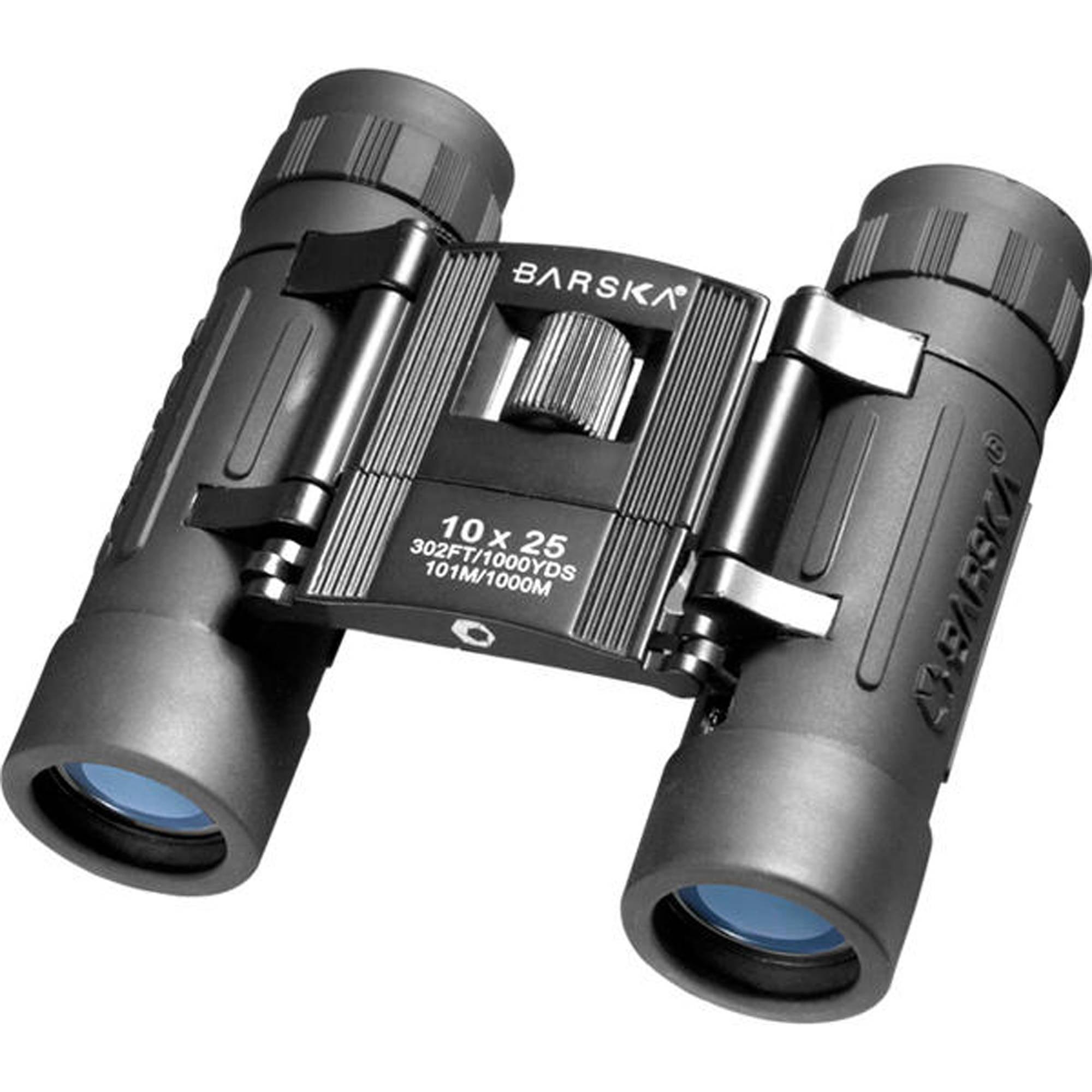 Barska Optics Lucid View Compact Binocular 10x25mm, Blue Lens by Barska