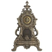 21.88 Inch Baroque Style Large Mantle Cold Cast Bronze Clock
