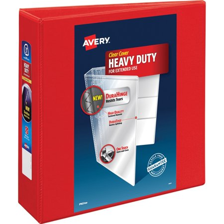 Avery Heavy-Duty View Binder w/Locking 1-Touch EZD Rings, 3