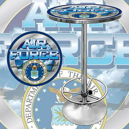 "Trademark US Air Force 42"" Pub Table, Chrome"