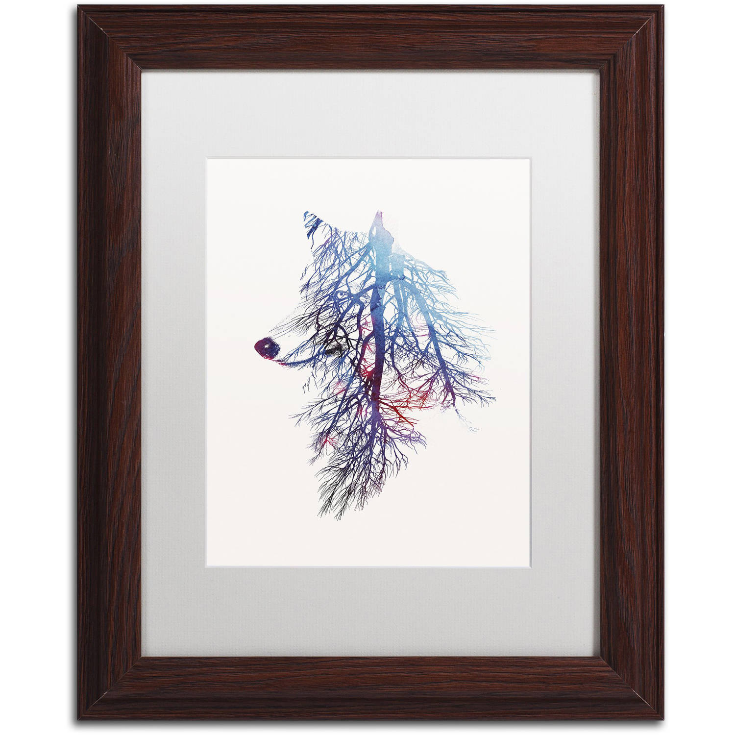 Trademark Fine Art 'My Roots' Canvas Art by Robert Farkas, White Matte, Wood Frame
