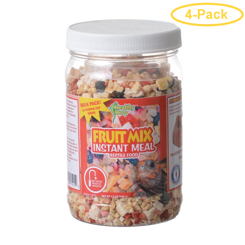 Healthy Herp Fruit Mix Instant Meal Reptile Food 3.5 oz - Pack of 4
