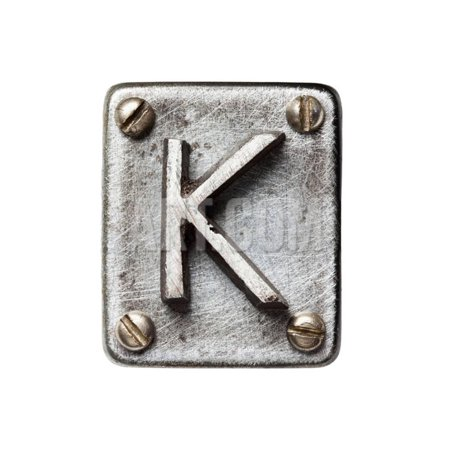 Old Metal Alphabet Letter K Print Wall Art By donatas1205