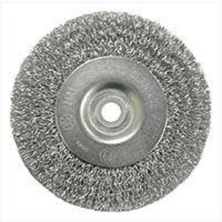 Weiler 36402 Crimped Wire Wheel Brush w/Arbor Hole, 4