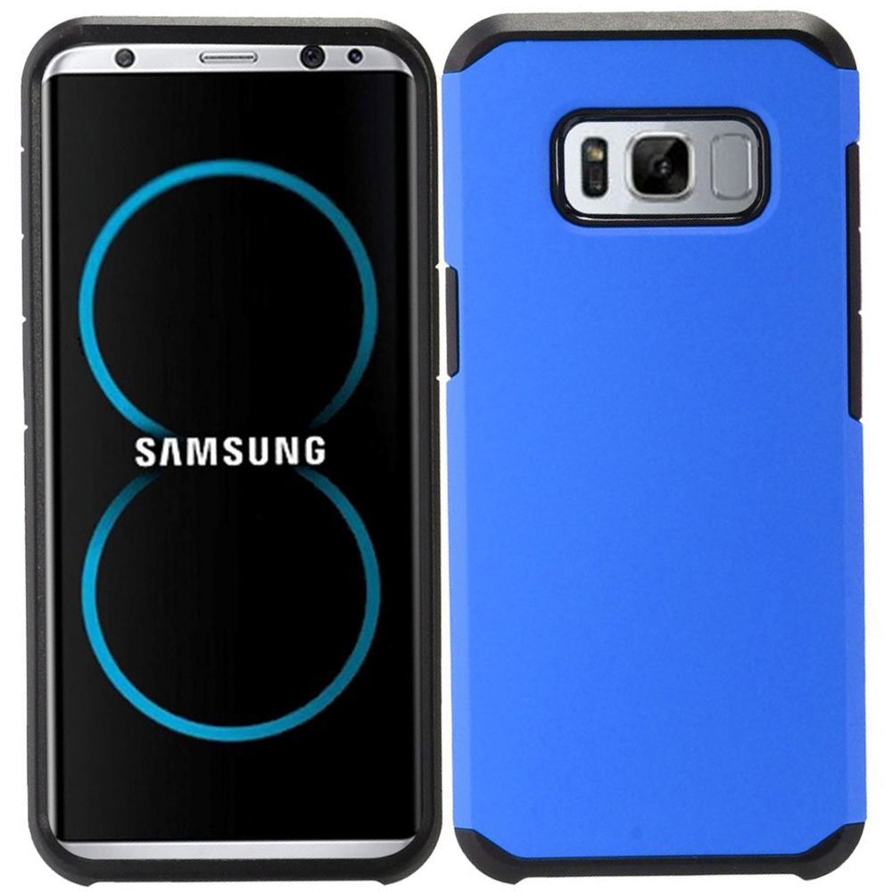 MUNDAZE Blue Slim Double Layered Case For Samsung Galaxy S8 Phone