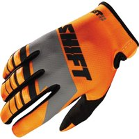 Orange/White/Black Sz M Shift Racing Assault Youth Motorcycle Glove