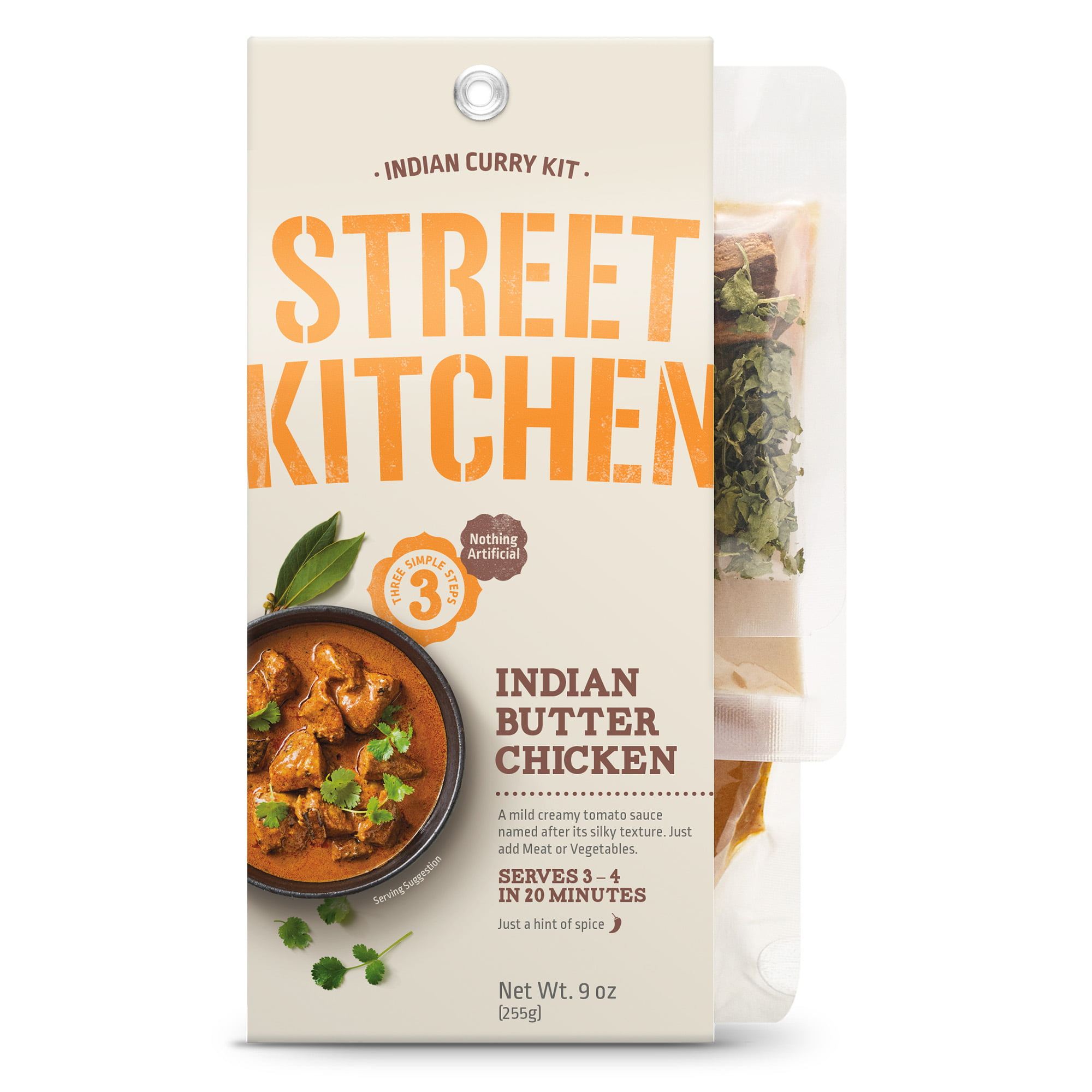 Street Kitchen Indian Butter Chicken Indian Scratch Kit 9 Oz Walmart Com Walmart Com