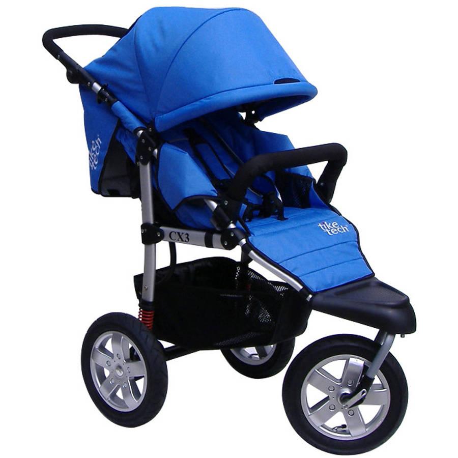 Tike Tech CityX3 Swivel Single Stroller, Blue