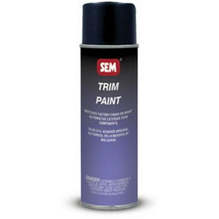 Sem paints 39063 trim gloss trim black 16oz aerosol can for Gloss paint for trim