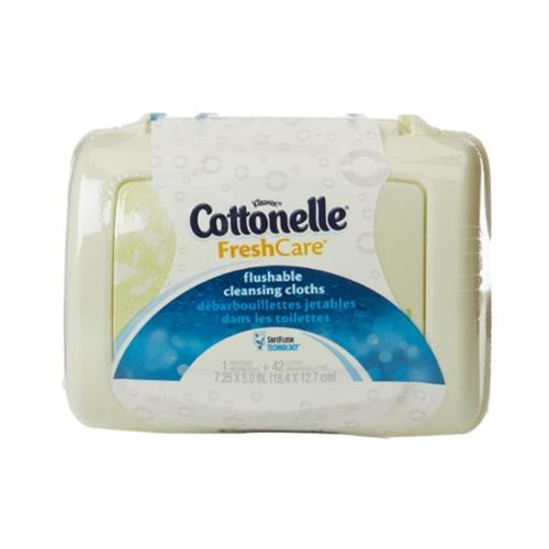 Cottonelle Fresh Flushable Moist Wipes Pop-Up Tub 42 Each (Pack of 3)