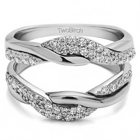 personalized twobirch womens bypass wedding ring guard enhancer - Wedding Ring Guard