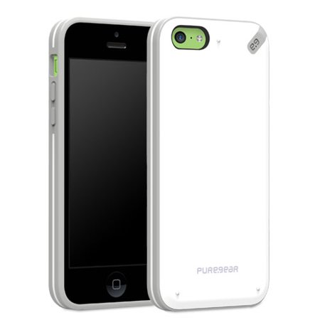 White Polycarbonate Shell - PureGear Slim Shell Polycarbonate Snap On Protective Cell Phone Cover Case