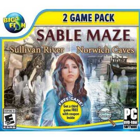 Big Fish: Sable Maze 1: Sullivan River and Sable Maze 2: Norwich Caves - - Spinning 1 Pc
