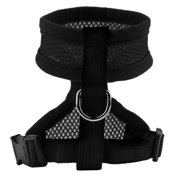 XL black Pet Harness Collar Leash Strap Mesh Dog Cat Adjustable Vest Breathable Puppy
