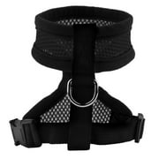 XL black Pet Harness Collar Leash Strap Mesh Dog Cat Adjustable Vest Breathable Puppy~~
