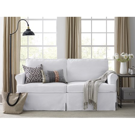 apartment-upholstered-sofa-with-skirt,-white by dwell-home-inc