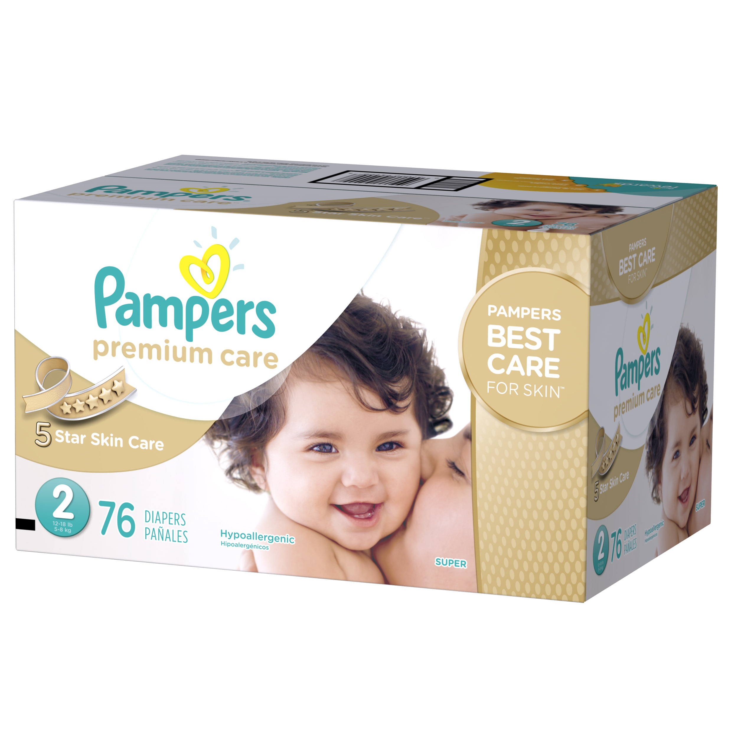 Pampers Premium Care Diapers Size 2 76 count
