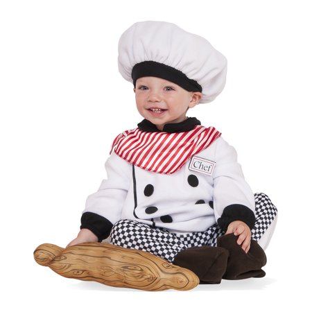 Little Chef Toddler Cook Plaid Uniform Halloween Costume-Todd - Chef And Baby Lobster Costume