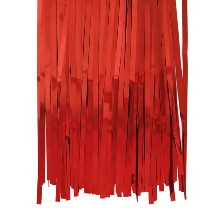 Aspire Long Foil Fringe Photo Backdrops Doorway Window Tinsel Party Curtain 3 ft x 8 ft-Red-Pack of - Halloween Doorway Ideas