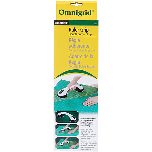 Omnigrid Double Suction Cup Ruler Grip, White