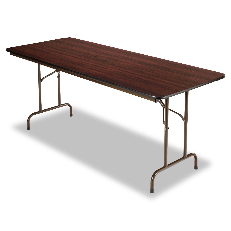 Alera Wood Folding Table, Rectangular, 72w x 29 3/4d x 29h, Walnut