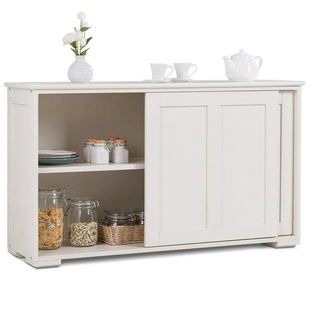Costway Kitchen Storage Cabinet Sideboard Buffet Cupboard ...