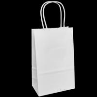 "White Kraft Paper Bags, 5.25""x3.5""x8.25"", 25ct"