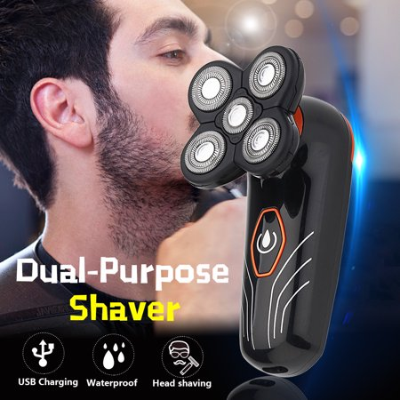 Men's Electric Hair Beard Shaver Bald Eagle Remover Clipper Cordless Razor Trimmer 5 Head OR 1 PC Replacement Shaver Head (Clipper Hear)