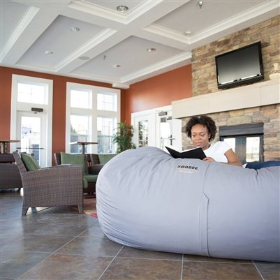 Bean Bag Lounger 7 Foot Xhilerate Oversized Chair In Twill Midnight Black