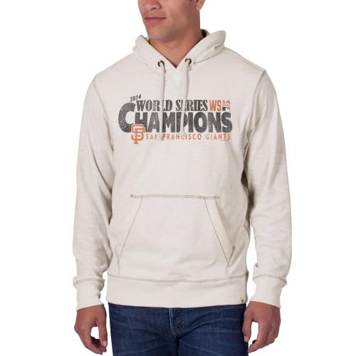 San Francisco Giants '47 Brand 2014 World Series Champions Slugger Pullover Hoodie - Cream