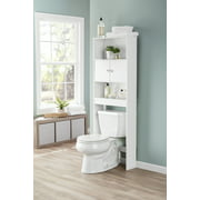 Mainstays Bathroom Storage Over the Toilet Space Saver, White