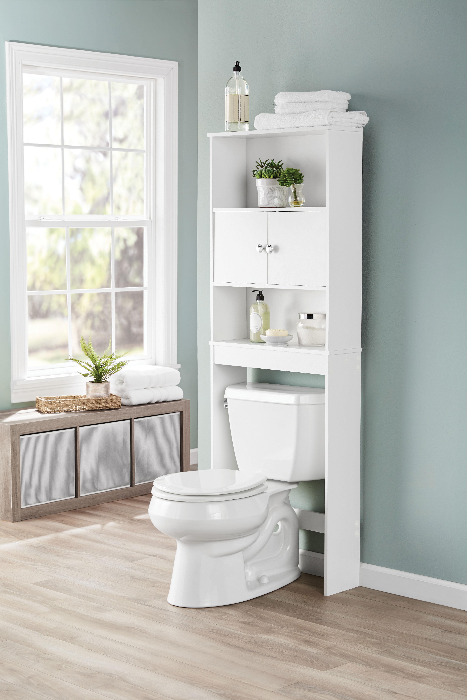 Bathroom Storage White Over The Toilet