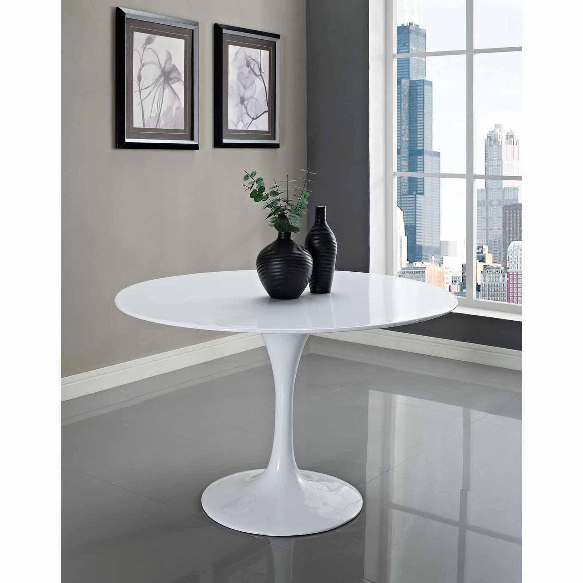 "Modway Lippa 48"" Fiberglass Dining Table Multiple Colors"