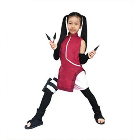 DAZCOS Kids Size Girls The Last Uchiha Sarada Anime Cosplay Costume Child