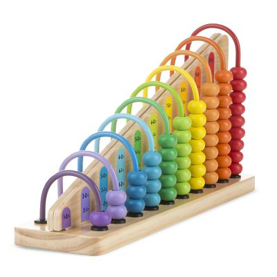 Melissa & Doug Add & Subtract Abacus, Educational Toy with 55 Colorful Beads and Sturdy Wooden Construction