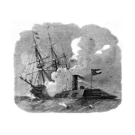The Civil War in America: Naval Engagement in Hampton Roads Print Wall (Hampton Roads Malls)