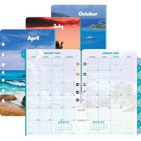 Day Timer Coastlines 2 Page Per Month Tabbed Calendar Refill Desk Size   July