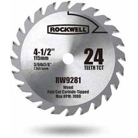 Rockwell Compact Circular Saw 4.5-Inch Tct Blade