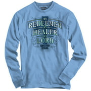 My Redeemer Lives Christian T Shirt | Jesus Christ God Savior Long Sleeve Tee