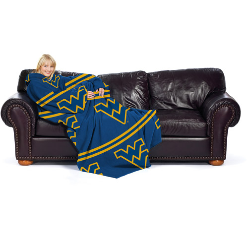 NCAA West Virginia Mountaineers Comfy Throw, Stripes