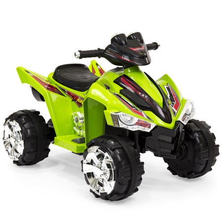 Best Choice Products Kids 12V Battery Powered Ride On Toy Car 4-Wheeler Quad ATV w/ LED Headlights, Forward and Reverse Gears, 2MPH Maximum Speed - (Jaybrake Quad)