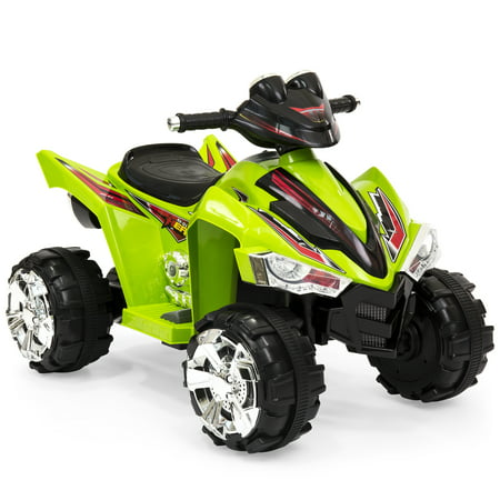 Best Choice Products Kids 12V Battery Powered Ride On Toy Car 4-Wheeler Quad ATV w/ LED Headlights, Forward and Reverse Gears, 2MPH Maximum Speed - Green (4 Wheelers For Girls)