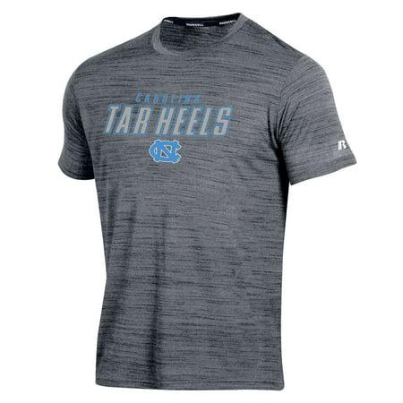 Men's Russell Gray North Carolina Tar Heels Athletic Metallic T-Shirt