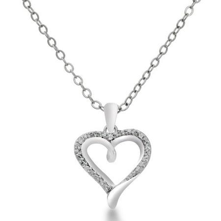 dainty diamond heart necklace. Black Bedroom Furniture Sets. Home Design Ideas