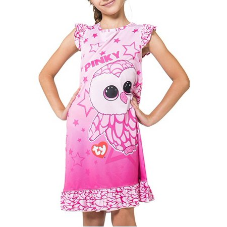 ty beanie boos pinky pink barn owl nightgown - Girls White Nightgowns