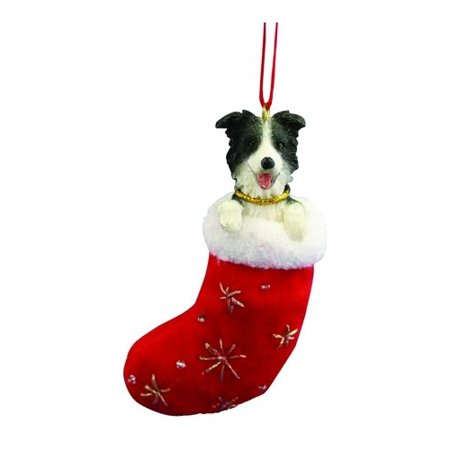 Border Collie Stocking Christmas - Collie Christmas Tree