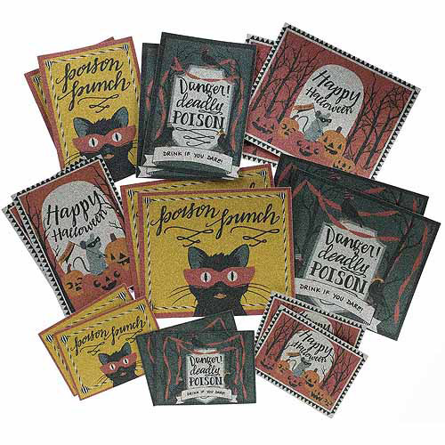 Martha Stewart Animal Masquerade Beverage Labels, 18pk