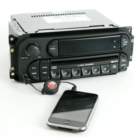 Jeep Ipod - 2002-2007 Chrysler Jeep Dodge Radio AM FM 6 CD iPod Aux RBQ Digital P05091507AG - Refurbished