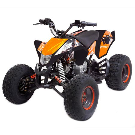 T4B MADMAX JUNIOR ATV 125cc KIDS Dirt Quad Recreational Outdoors, Off-Road, All Terrain, 4 stroke, single-cylinder, air-cooled - Orange - image 2 de 7